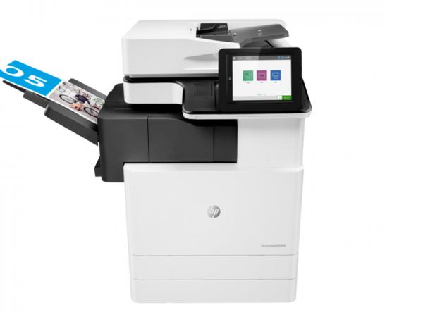 HP color multifunction printer model E87650du